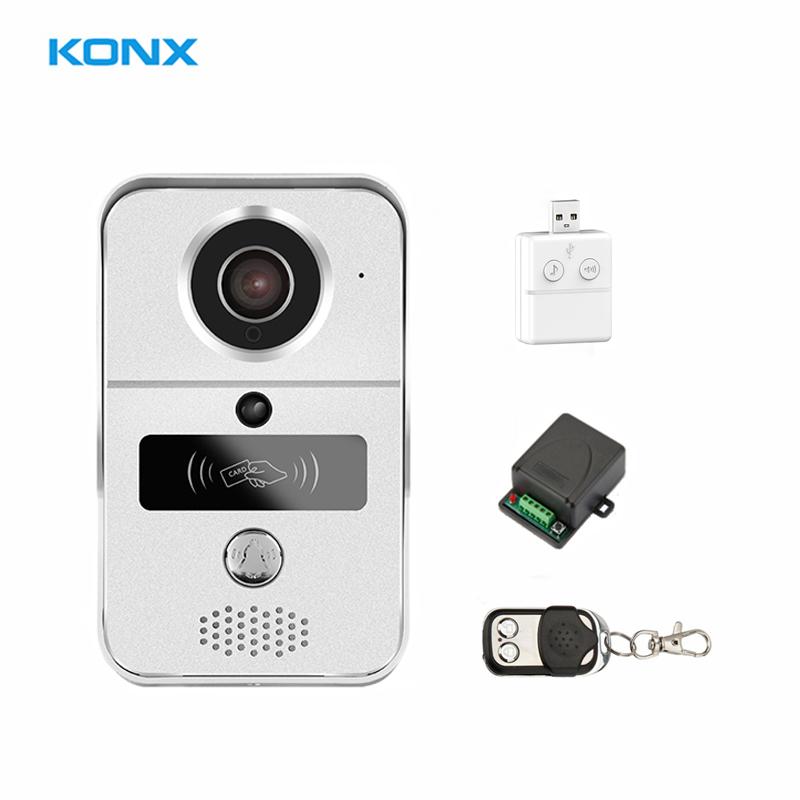 KONX Smart Home 720 WiFi IP Video Door Phone Intercom Doorbell Wireless  Unlock Peephole Camera Doorbell Viewer 220V IOS Android U2013 Wintel Secure
