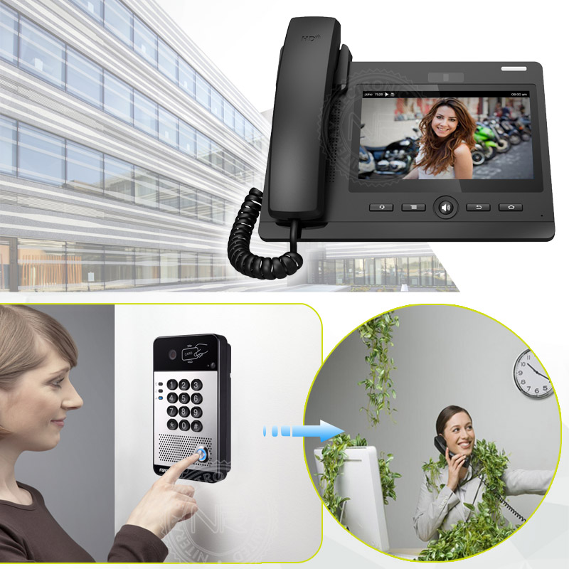 2018 New video door phone office SIP video intercom access ...