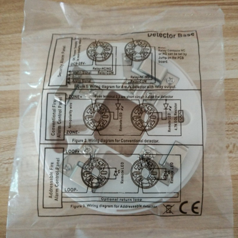 Conventional Fire Alarm Control System Smoke Detector 2 Wire Smoke