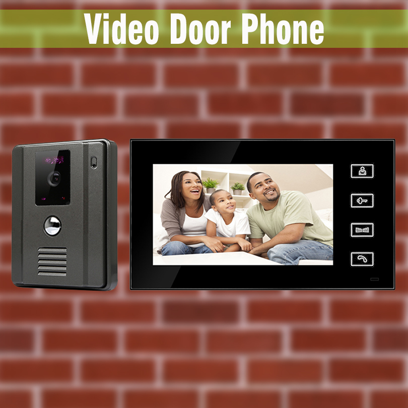 Wired Door Bell Video Door Phone Doorbell Camera Touch Button Unlock Night Vision Rainproof Security Cctv Camera Video Intercom Back To Search Resultssecurity & Protection