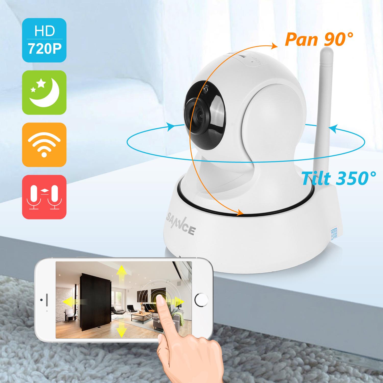 Sannce Home Security Ip Camera Wi Fi Wireless Mini Network W 15